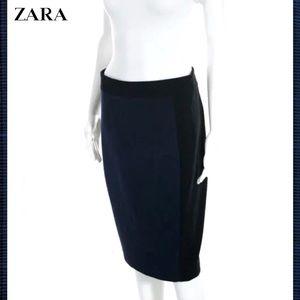 ZARA Classy Dark Blue/Blk Pencil Skirt